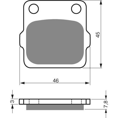 Goldfren Front Pads 007-K5