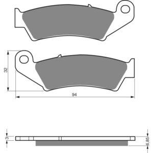 Goldfren Front Pads 041-S3