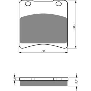 Goldfren Front Pads 085-S3