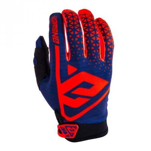 Answer AR1 Gloves Bright Red/Midnight Youth
