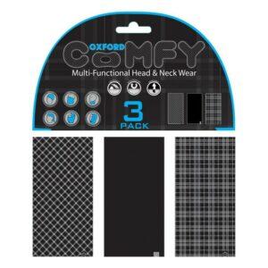 Oxford Comfy 3-Pack Black & White