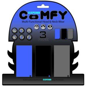 Oxford Comfy 3 Pack Blue/Black/Grey