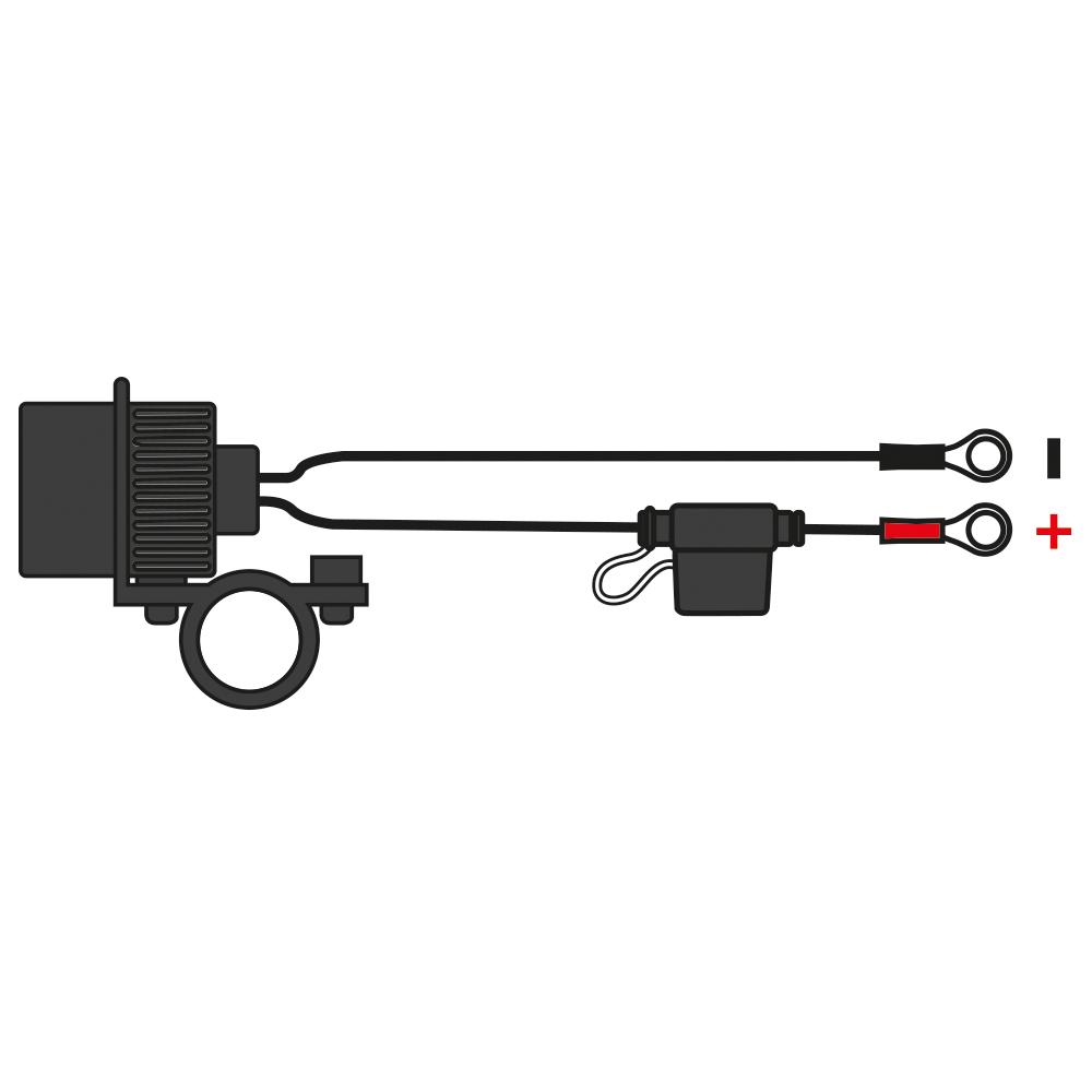 12V STD Accessory Plug Socket and 1.2mtr 10amp fused loom