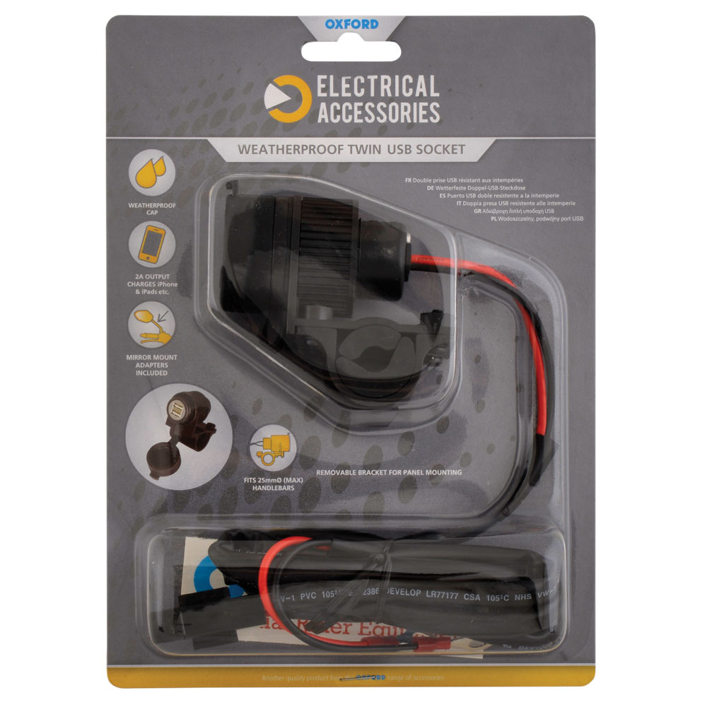 Dual USB socket (5V 2Amp) & 10amp fused 1.2mtr loom