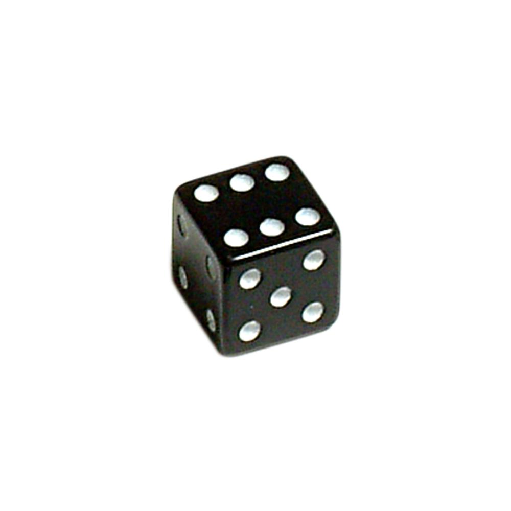Lucky Dice Valve Caps Black