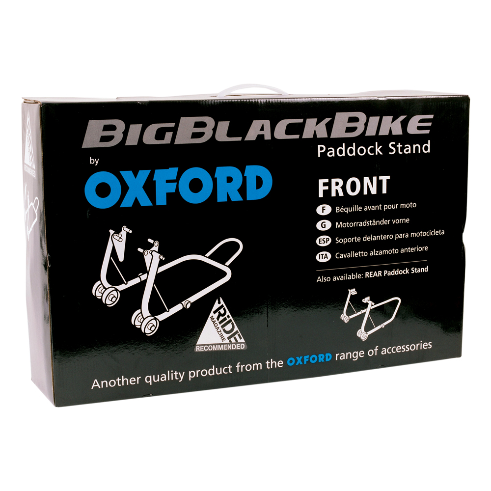 Big Black Bike Front Paddock Stand