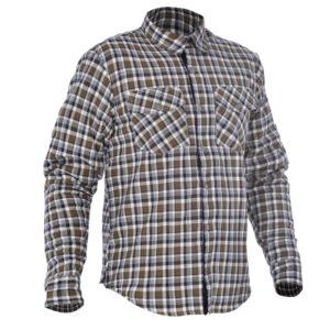 Oxford Kickback Shirt Checker Khaki & White