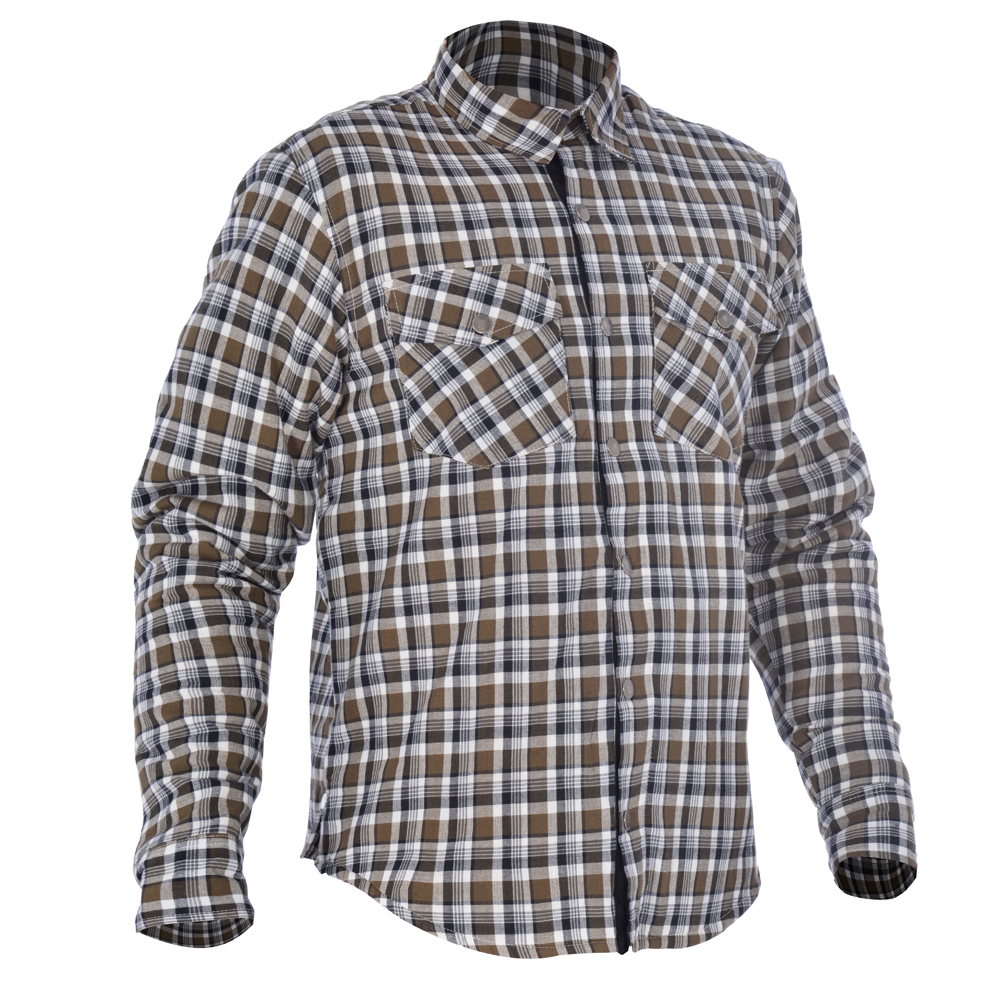 Oxford Kickback Shirt Checker Khaki & White