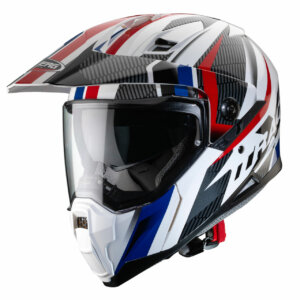 Caberg Xtrace Savana Dual Sport Helmet Blue white and red