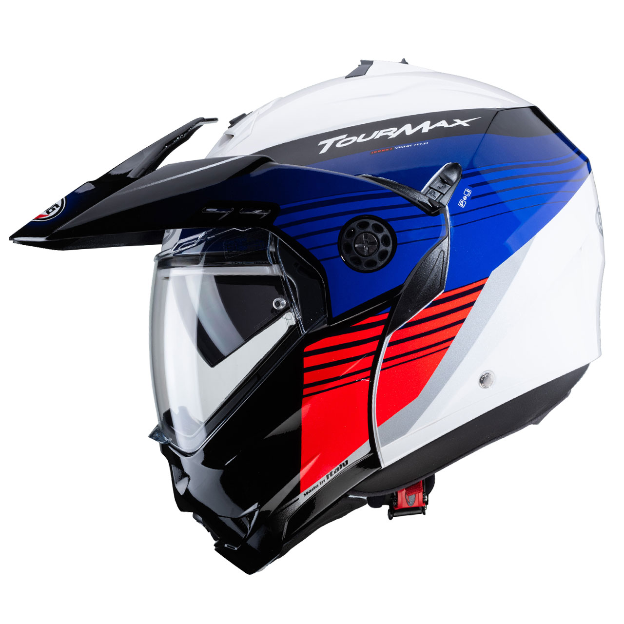 Caberg TourMax Titan White Blue and Red