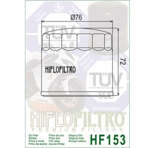 HF153 Hiflo Oil Filter - Ducati Replacement filter